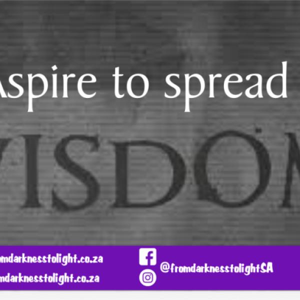 Aspire to spread Wisdom