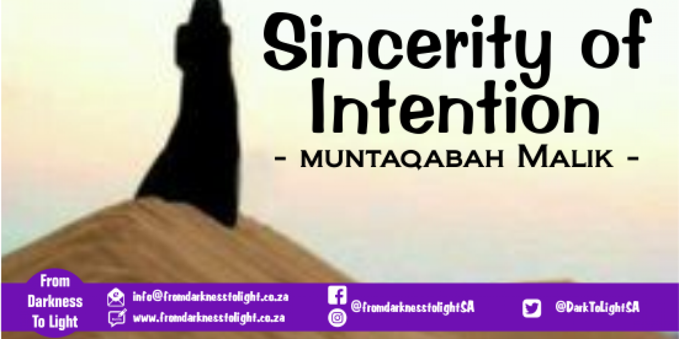 Sincerity of Intention